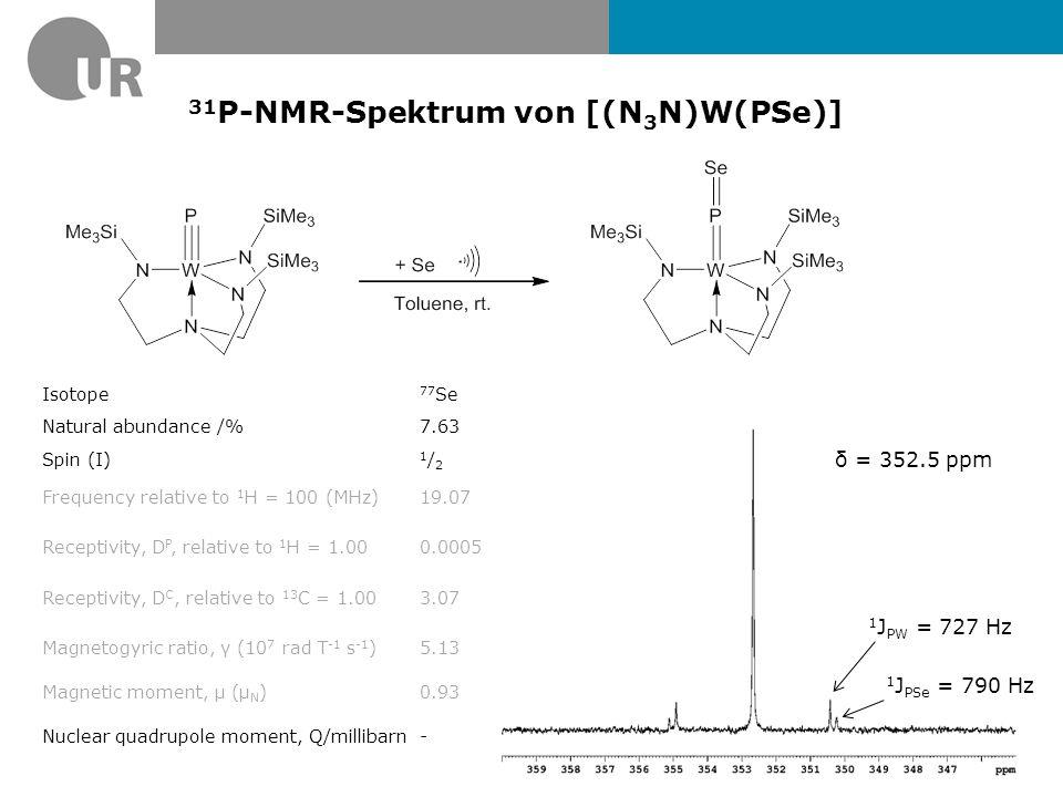 31P-NMR-Spektrum von [(N3N)W(PSe)]